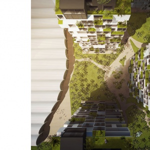 Forma projektowanych wież mieszkalnych stanowi bezpośrednie odniesienie do regionalnego stylu Jeddah - Hijazi. Wizualizacje & Grafika: BXBstudio Bogusław Barnaś