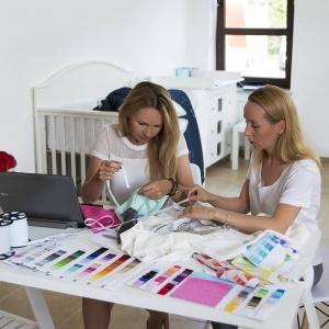 Aktorka Anna Guzik stworzyła kolekcję dziecięcych rzeczy dla marki Samiboo. Fot. Samiboo