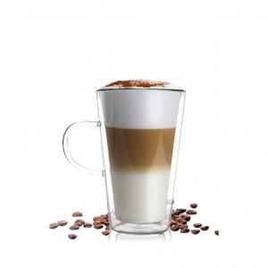 Przezroczysta szklanka na caffee latte.