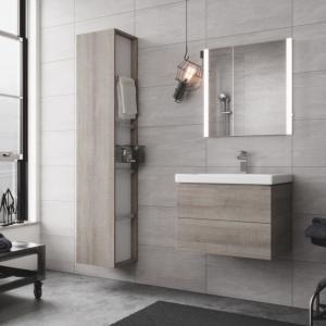 Meble i ceramika City do łazienki w miejskim stylu. Fot. Cersanit