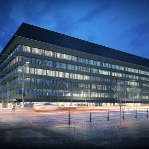 Nowa Fabryczna. Budynek biurowy w Łódź Nowe Centrum. Fot. Medusa Group.