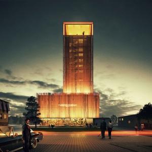 Wieża wodna w Pszczynie. Koncepcja przebudowy dla inwestora prywatnego. Fot. Medusa Group.