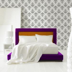 Królewska sypialnia w odcieniach fioletu. Fot. Fabryka Materacy Janpol