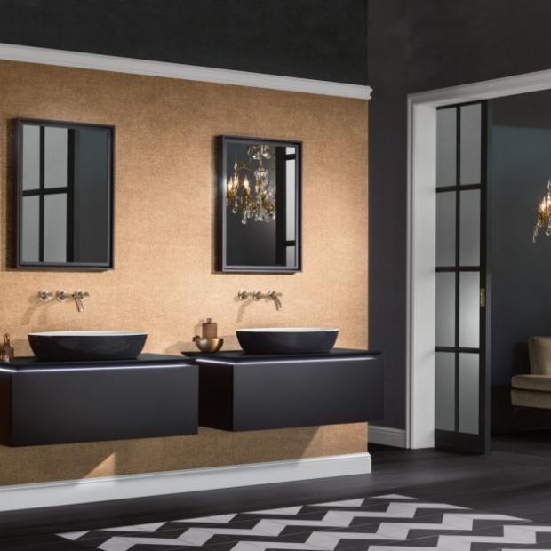 Nowoczesna łazienka: akcesoria w czarnym kolorze