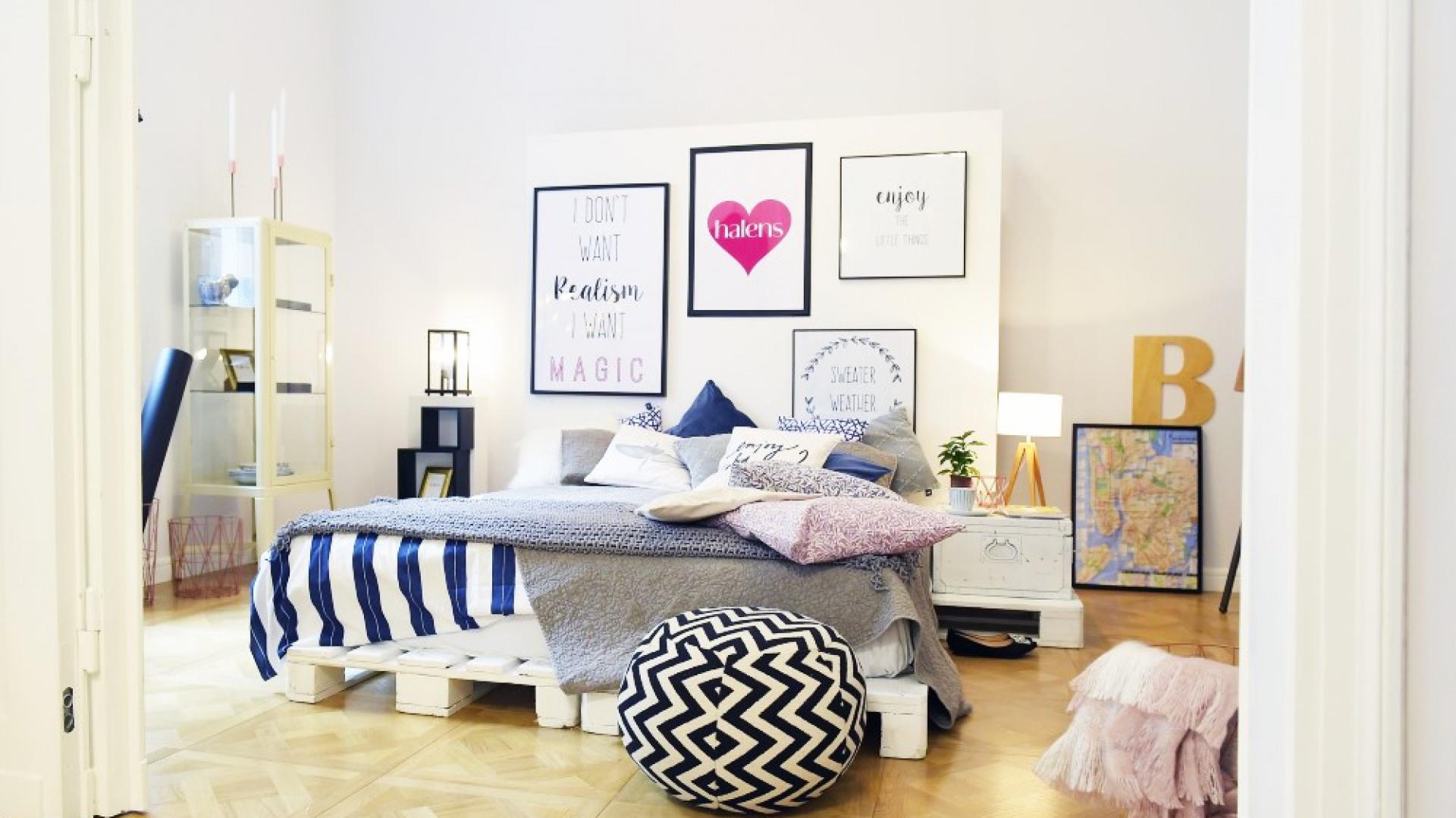Przytulana sypialnia  w stylu skandynawskim. Fot. Halens