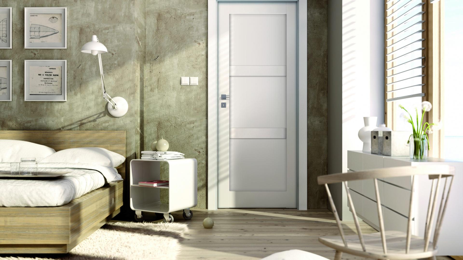 Pokój dla nastolatka: drzwi wewnętrzne Bianco Sati 1. Fot. Invado