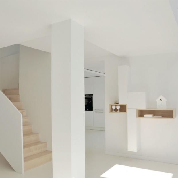 Biel i drewno - zobacz niezwykły dom