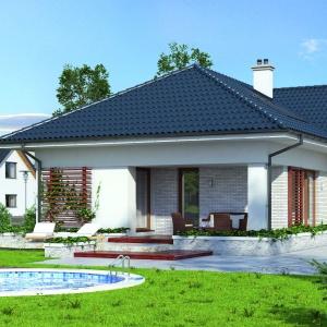 Wnętrze domu zaplanowano w taki sposób, aby zapewnić komfort funkcjonowania 6-7-osobowej rodzinie. Projekt: Aksamit 2, arch. Tomasz Sobieszuk, Biuro Projektów MTM Styl