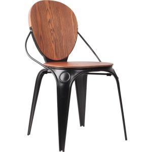 Krzesło LOUIX to propozycja dla wielbicieli stylu przemysłowego. Siedzisko z litego drewna jesionu oparte na metalowych nogach. 1.279 zł. Fot. Zuiver