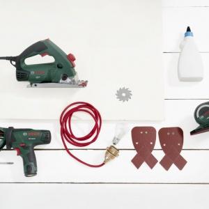 Narzędzia niezbędne do wykonania lampy. Fot. Bosch