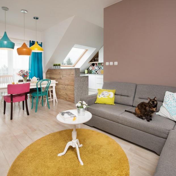 Kolorowe mieszkanie w stylistyce retro
