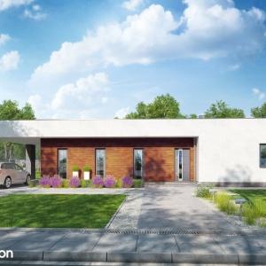 Dom w plumeriach – to nowoczesny projekt małego domu parterowego z płaskim dachem, który wpisuje się w najnowsze trendy w architekturze. Maksymalnie prosta bryła podkreśla minimalistyczny charakter budynku i umożliwia wybudowanie ekonomicznego i funkcjonalnego domu.Projekt: Archon+.