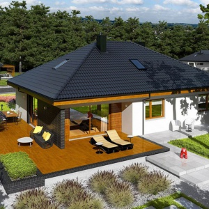 Projekt domu Astrid (mała) II G2. Fot. Pracownia Projektowa Archipelag