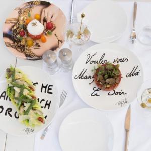 Prowokacja na porcelanie – fotografie Philippe'a Shangtiego na talerzach. Fot. Villeroy & Boch