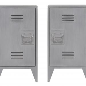 Zestaw 2 szafek nocnych HAP6124 idealny dla miłośników stylistyki przemysłowej. Wbrew pozorom nie zostały wykonane z metalu, ale z drewna. 1.699,39 zł/szt. Fot. HK Living
