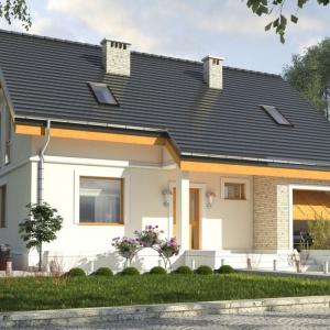 Klasyczna forma domu z dwuspadowym dachem wpisze się w każde otoczenie. Projekt: arch. Maja Klimowicz, Fot. Dom Dla Ciebie – Pracownia Projektowa Archeco