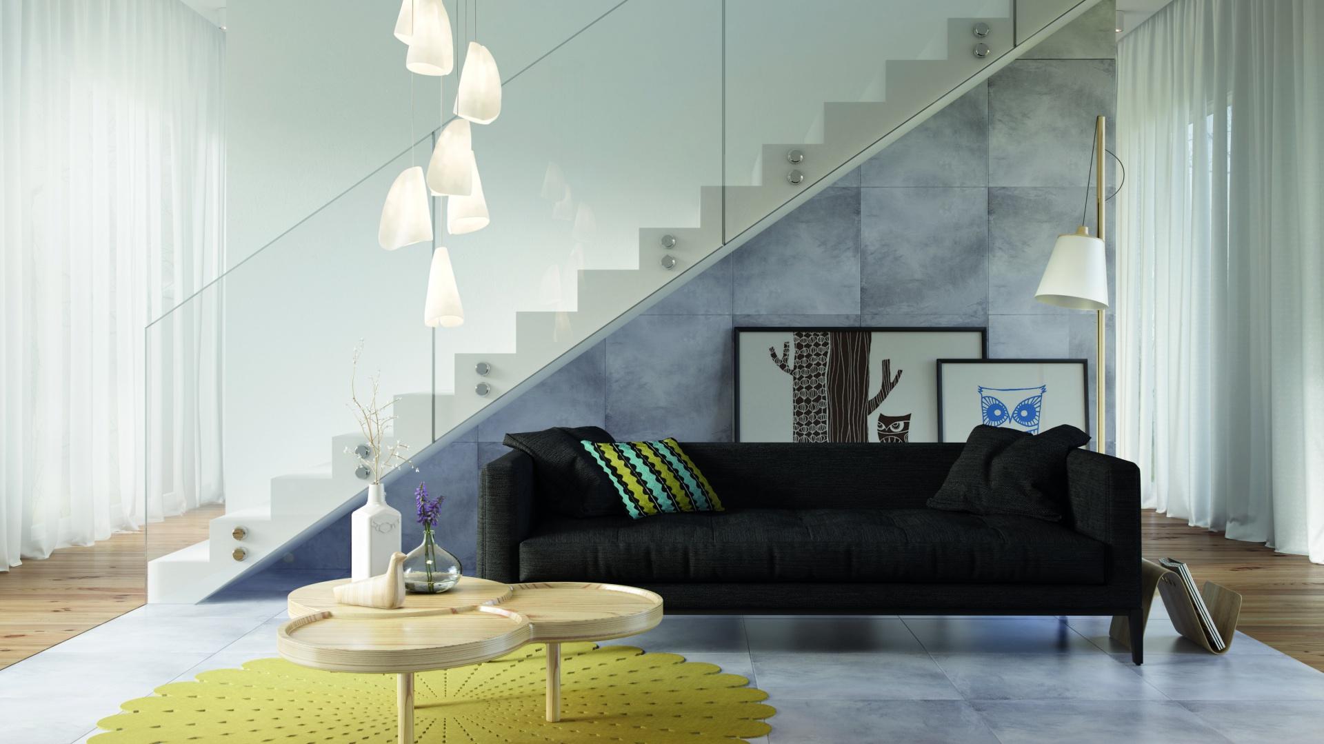 Gres szkliwiony SKY (60x60 cm) ozdobiony rysunkiem inspirowanym wyglądem betonu zapewnia wnętrzom loftowy, a jednocześnie przytulny klimat. Świetnie wygląda w zestawieniu z drewnem. Do wyboru płytka w satynowym lub błyszczącym wykończeniu. Ok. 89 zł/m². Fot. Ceramstic