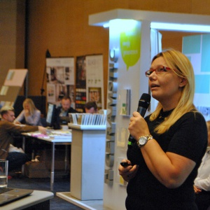 Alicja Pater z marki Ceramstic pokazała nowe produkty i rozwiązania z zakresu płytek ceramicznych.
