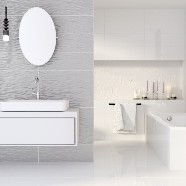 Nowoczesna łazienka. Wybierz jasne płytki z efektem głębi