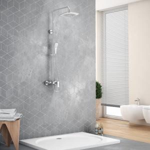 Zestaw prysznicowo-wannowy Rain Altar White, brodzik Sublime. Fot. Excellent