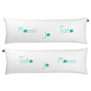 Poduszka One Pillow Mama Tata ja. Fot. Mr&Mrs Sleep