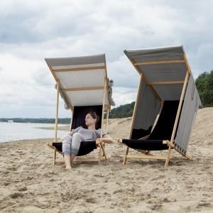 Krzesło plażowe Gdynia, zaprojektowane na Gdynia Design Days 2014. Fot. archiwum Jana Kochańskiego.