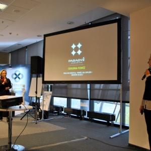 Beata Dela oraz Katarzyna Pardiak-Borowska reprezentowały Ceramikę Paradyż, partnera głównego warszawskiego spotkania.