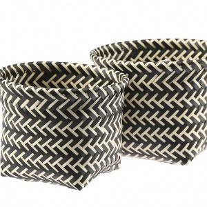 Bonita, komplet koszyczków o średnicy 19 lub 22 cm. Występują w dwukolorowej wersji: szary/biały, szary/czarny lub krem/czarny. Cena brutto 25,56 zł. Fot. Galicja