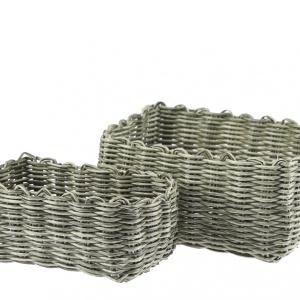Komplet koszyków prostokątnych  Suelo 2 szt. kolor  zielony. Fot. Galicja