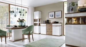 Kolekcja COMO przeznaczona jest do wyposażenia salonu,jadalni oraz sypialni. Zachowane w naturalnej kolorystyce meble stanowią doskonałe uzupełnienie nowoczesnego wnętrza. Fronty mebli oraz blaty wykończone dębową okleiną naturalną.
