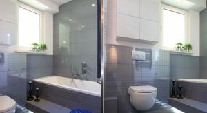 Jak na niewielkim metrażu zmieścić wszystkie niezbędne funkcje w łazience, a jednocześnie uniknąć wrażenia przytłaczającego, zagraconego wnętrza?