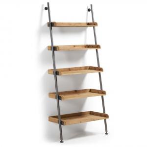 Drewniany regał BELAMO to świetna propozycja dla fanów surowych i minimalistycznych wnętrz. Połączenie drewna i metalu idealnie sprawdzi się w prostej przestrzeni pełnej bieli lub drewna. 2.693,70 zł. Fot. La Forma