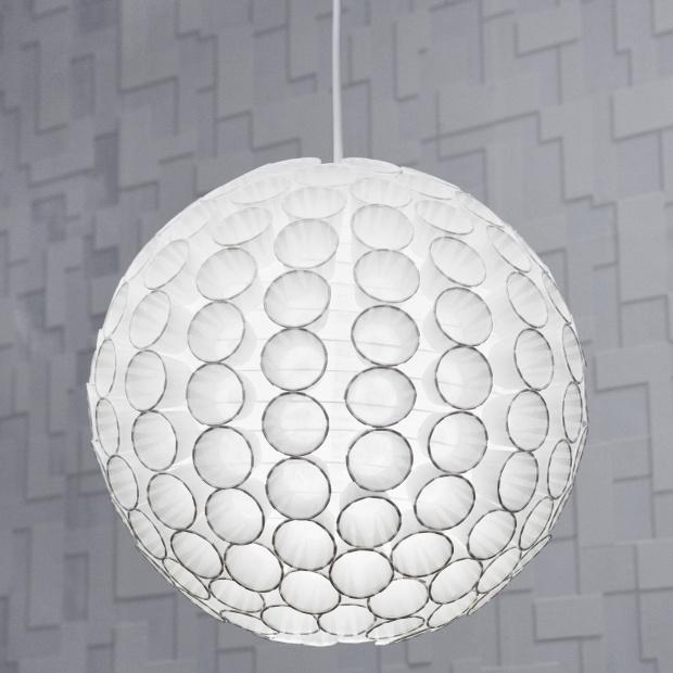 Dizajnerska lampa 3D z papierowych kubeczków