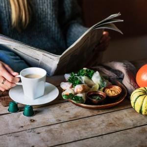Roladki z dynią i ziołami. Fot. Nespresso