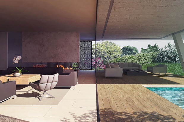 Projekt ten polegał na opracowaniu rezydencji wraz z otaczającym ogrodem, basenem, ogrodzeniem oraz elementami małej architektury.