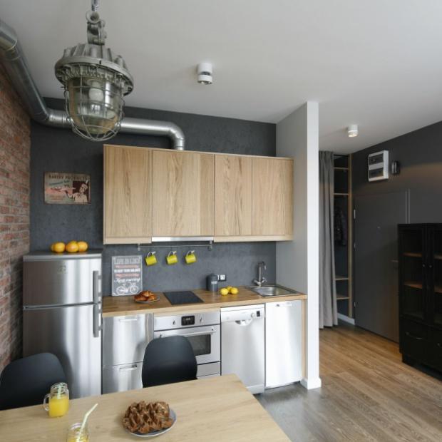 Gotowy projekt aneksu kuchennego na warszawskiej Pradze