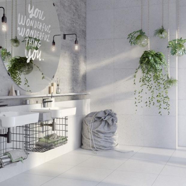 Ściana w strefie umywalki: sprawdź nasze propozycje