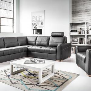 Kanapa narożna i fotel z kolekcji Orso marki Etap Sofa. Fot. Etap Sofa