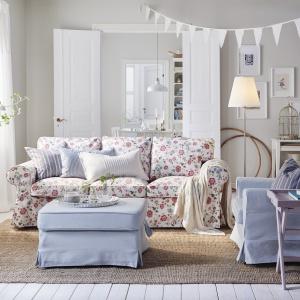 Sofa trzyosobowa Ektopr dostępna w ofercie marki IKEA. Cena: 1.299. Fot. IKEA