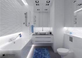 Biała łazienka. Ludwinowska Studio Architektury