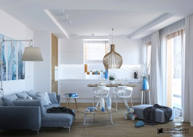 Mieszkanie dla rodziny z dziećmi. Ludwinowska Studio Architektury