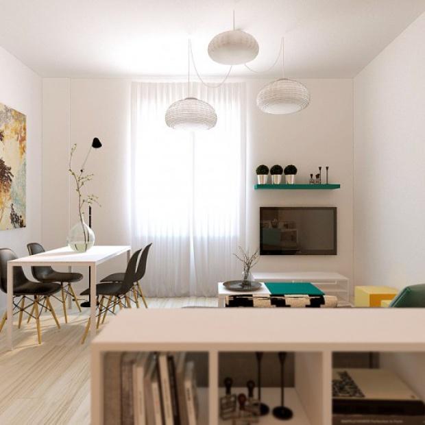 Jasne mieszkanie: gotowy projekt wnętrza