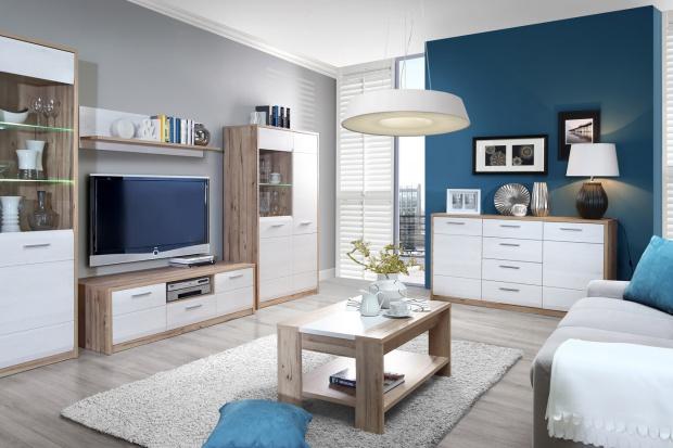 Meble w salonie: modne kolekcje w kolorze białym