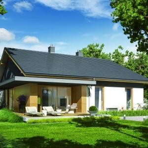 Duże przeszklenia pięknie urozmaicają bryłę domu. Fot. Pracownia Projektowa Archipelag