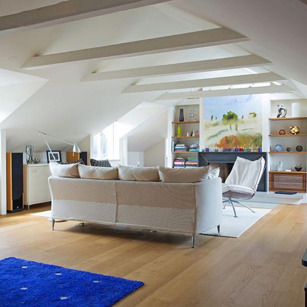 Loftowe mieszkanie w szwedzkiej kamienicy