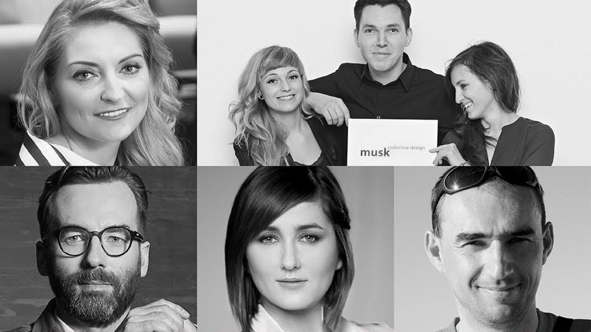 Od lewej: Dominika J. Rostocka, Kolektyw Musk, łukasz Kos, Anna Koszela, Adam Bronikowski