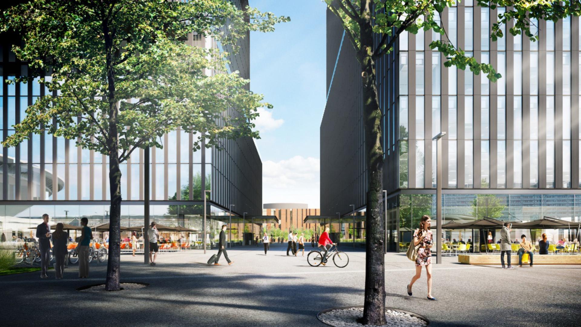 Zlokalizowany w centrum Katowic i 2-milionowego obszaru metropolitalnego, tuż obok Spodka i Międzynarodowego Centrum Kongresowego, pierwszy z budynków prestiżowego kompleksu biurowego .KTW, ma być gotowy w połowie 2018 roku.