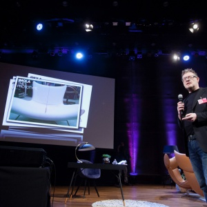 Gość specjalny Forum Dobrego Designu 2016 - Henrik Pedersen, jeden z uznanych duńskich projektantów. Fot. Paweł Pawłowski.