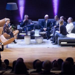 Uczestnicy sesji inauguracyjnej: Elitarny czy masowy - jaki jest design? Fot. Paweł Pawłowski, Piotr Waniorek
