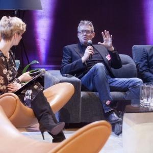 Od lewej: Urszula Chincz  - moderator debaty, Henrik Pedersen i Rafał Domaradzki. Fot.  Paweł Pawłowski, Piotr Waniorek
